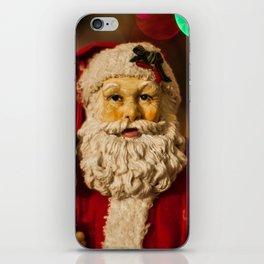 Santa Bokeh iPhone Skin