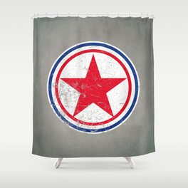 North Korea cocarde Shower Curtain