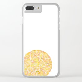 Yellow Round Gem Clear iPhone Case