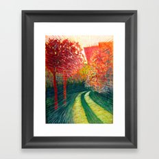 The Path Takes You Framed Art Print