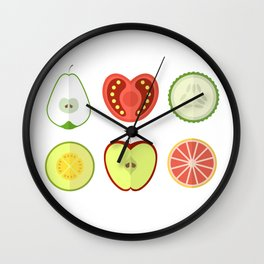 Fresh Fruits and Vegetables Wall Clock