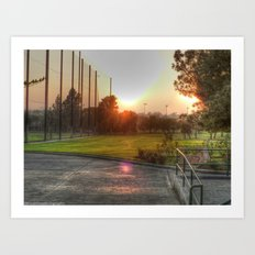 Sunset Golf Art Print