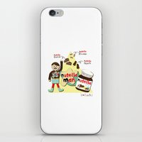 nutella iPhone & iPod Skins featuring I {❤} NUTELLA by lilycious
