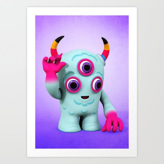Bull's Eye Pixy Art Print