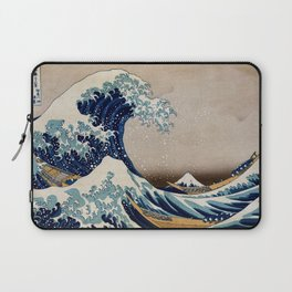 Under the Great Wave by Hokusai Laptop Sleeve