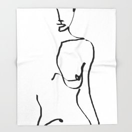 abstract nude Throw Blanket
