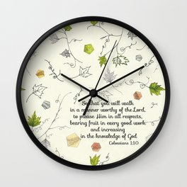 Colossians 1:10 Wall Clock