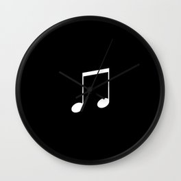 Black and White - Beamed Note Wall Clock