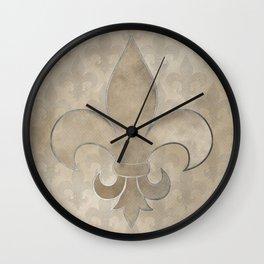 Fleur de lis pattern Wall Clock