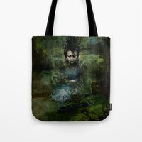 chinese Tote Bags featuring Chinese shade by Ganech joe