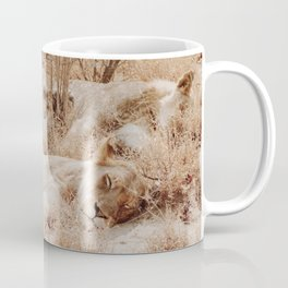 Lioness cuddle pile Coffee Mug