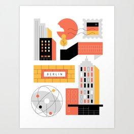Berlin City II Art Print