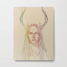 In Line Metal Print
