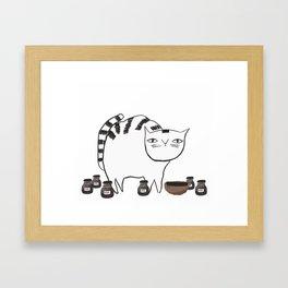Pentel the cat Framed Art Print