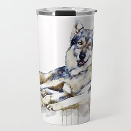 Smiling Wolf Travel Mug
