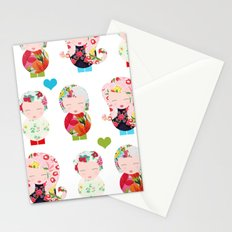 Dolls (White) Stationery Cards