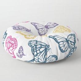 Spring Butterfly Floor Pillow