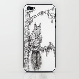 Deep in the wood (Squirrel on a branch) iPhone Skin
