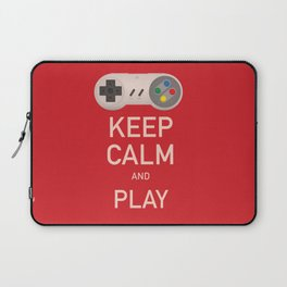 Keep Calm and Play vintage poster Laptop Sleeve