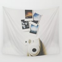 polaroid Wall Tapestries featuring Polaroid by Michelle Cella