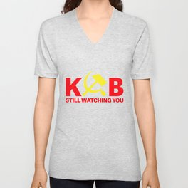 KGB Still Watching You - Russia Secret Service Unisex V-Neck