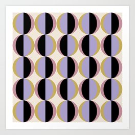 Mod Circle Abstract Pattern I Art Print