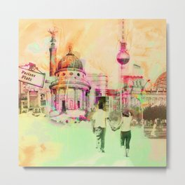 Berlin mixed media urban artwork Metal Print