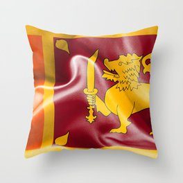 Sri Lanka Flag Throw Pillow