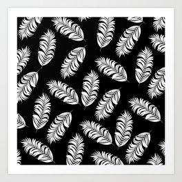 Black and white tropical Art Print