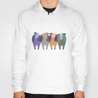 cows Hoodies featuring Confused Cows by TypicalArtGuy