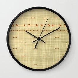 Arrows on burlap Wall Clock