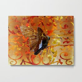 Silver Spotted Skipper Butterfly  Metal Print