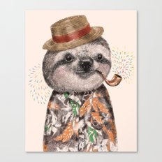 Mr.Sloth Canvas Print