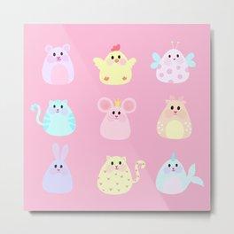 Cute animals Metal Print