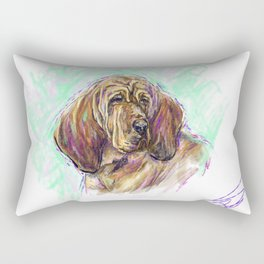 Daisey the hound Rectangular Pillow