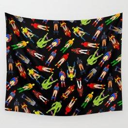 Superhero Butts Pattern (Dark) Wall Tapestry