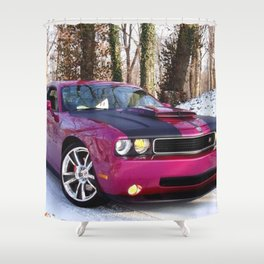 Fuchsia Panther Pink Limited Edition Hurst Challenger RT Shower Curtain