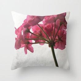 Geranium in winter Throw Pillow