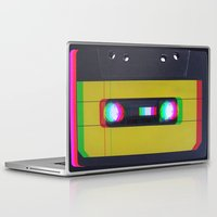 cassette Laptop & iPad Skins featuring Cassette by Michal