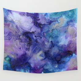 Abstract Watercolor and Ink Wall Tapestry