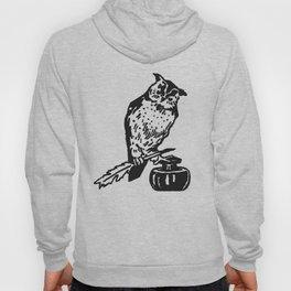 So Wise Black Owl Hoody
