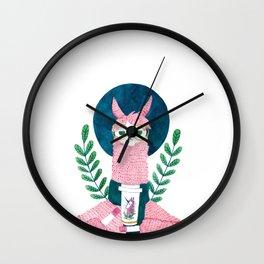 The coffee Llama Wall Clock