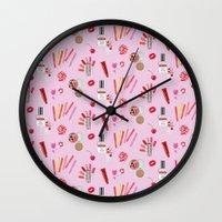makeup Wall Clocks featuring makeup by fungusmiu