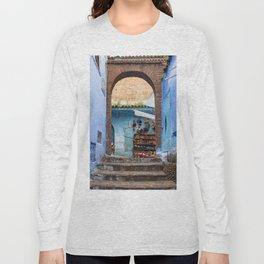Doors - Chefchaouen II, Morocco Long Sleeve T-shirt