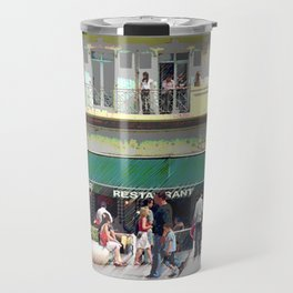Activity in the Town Square Travel Mug