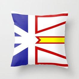 Newfoundland Flag Throw Pillow