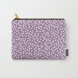Soft Purple and White Polka Dot Pattern Carry-All Pouch