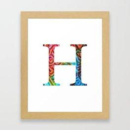 """Initial letter """"H"""" Framed Art Print"""