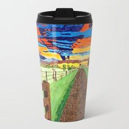 Country Sunrise in Acrylic Travel Mug