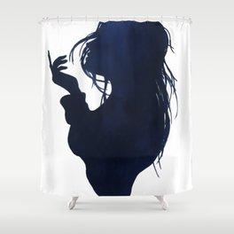 Sea breeze silhouette Shower Curtain